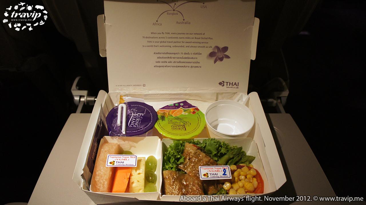 Bữa ăn chay của Thai Airways từ TP. Hồ Chí Minh đi Bangkok