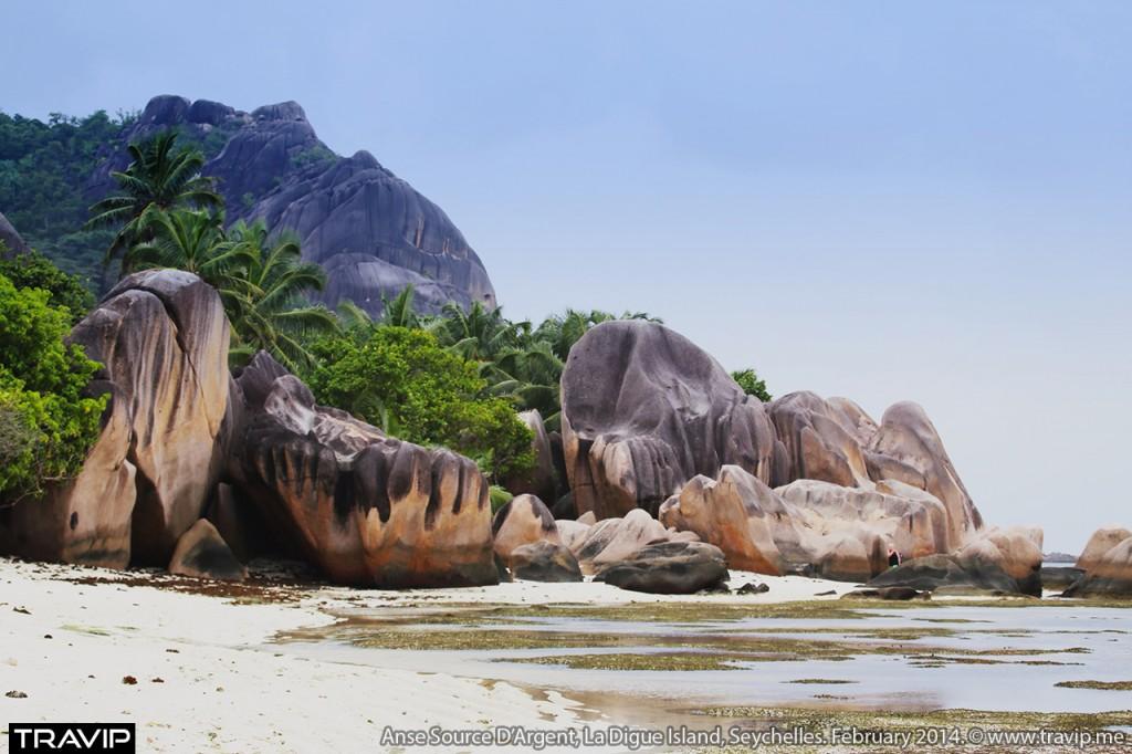 Một góc bãi biển Anse Soure D'Argent ở đảo La Digue