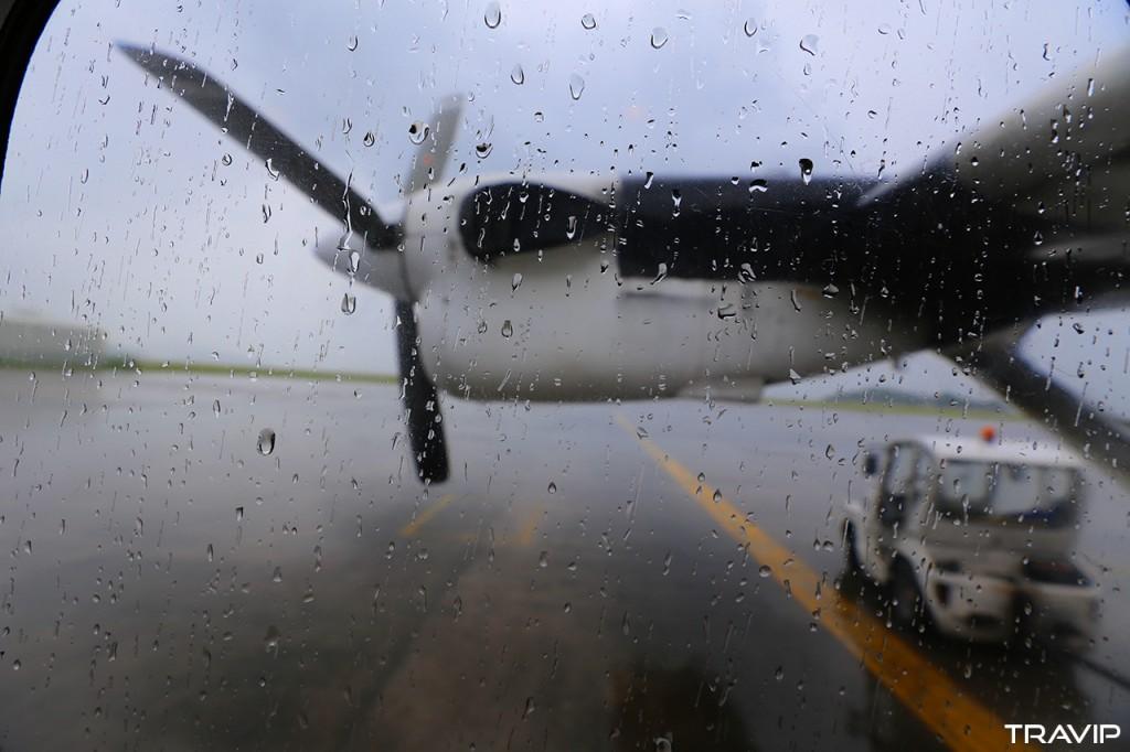 Máy bay nhỏ của Air Seychelles đưa khách từ Mahé ra Praslin.