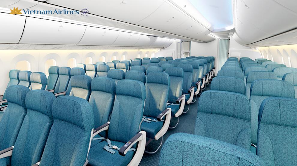Ghế hạng phổ thông trên Boeing 787-9.