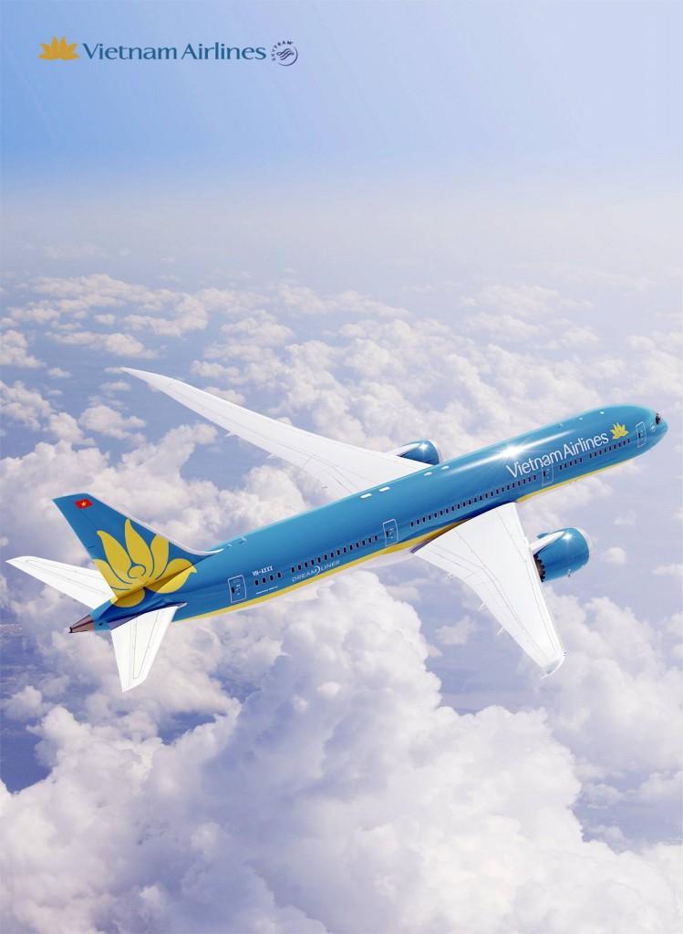 Máy bay Boeing 787-9 với màu sơn mới.
