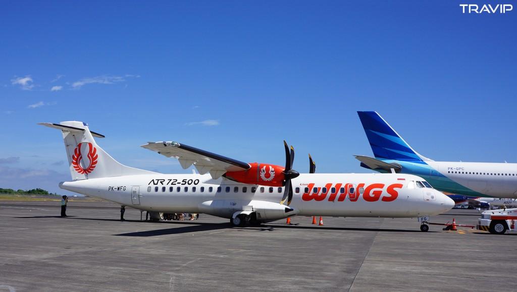 Máy bay ATR72 của Wings Air tại sân bay Denpasar (Bali), Indonesia.
