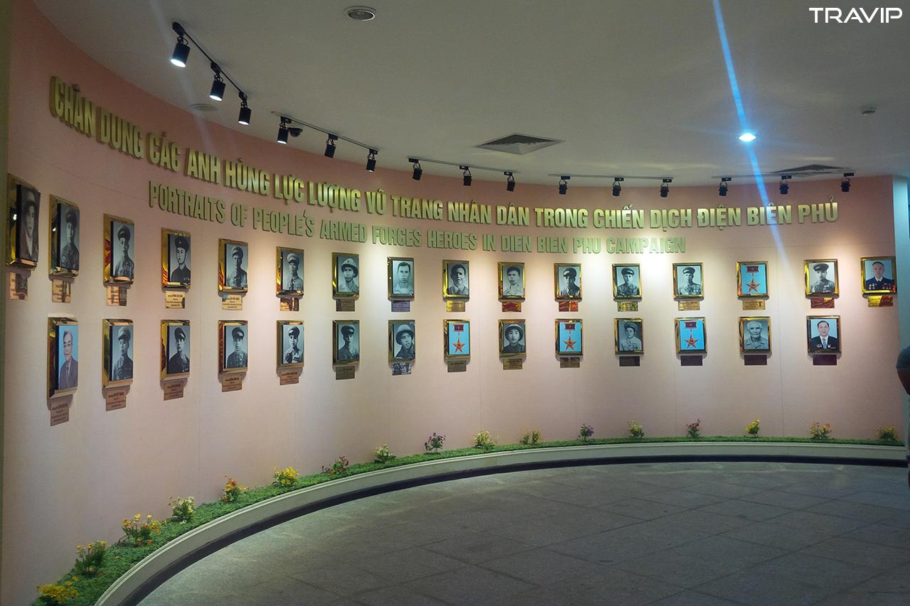 Chân dung các anh hùng lực lượng vũ trang nhân dân trong chiến dịch Điện Biên Phủ.